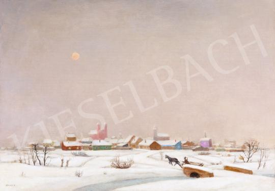 For sale Fényes, Adolf - Snowy Landscape (Fairy-Tale Landscape) 's painting