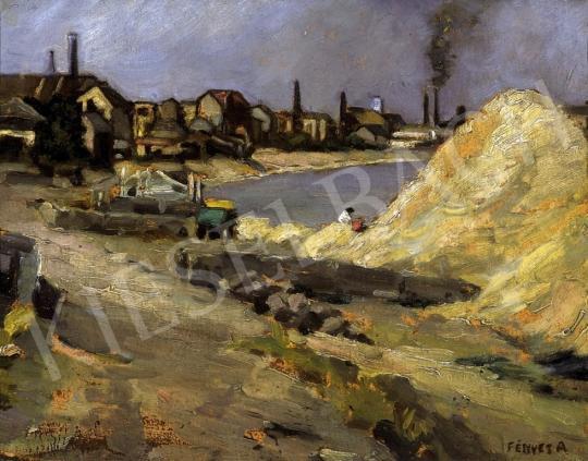 Fényes Adolf - Dunapart a Margit-hídnál | 13. Aukció aukció / 27 tétel