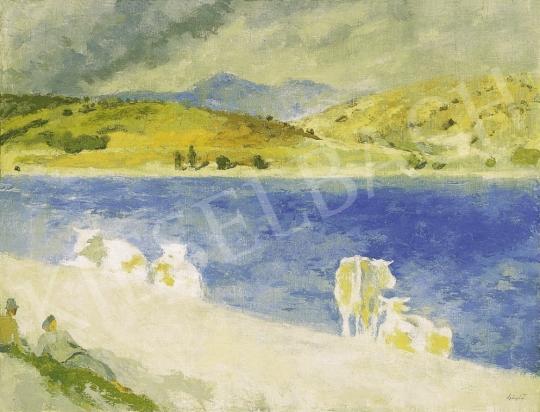Szőnyi István - Delelés a zebegényi Duna-parton, 1930-as évek vége | 13. Aukció aukció / 29 tétel