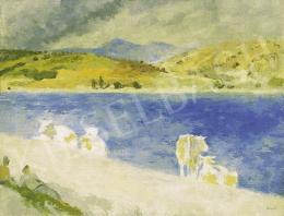 Szőnyi István - Delelés a zebegényi Duna-parton, 1930-as évek vége