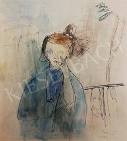 Ámos Imre - Masnis kislány a gangon, 1936