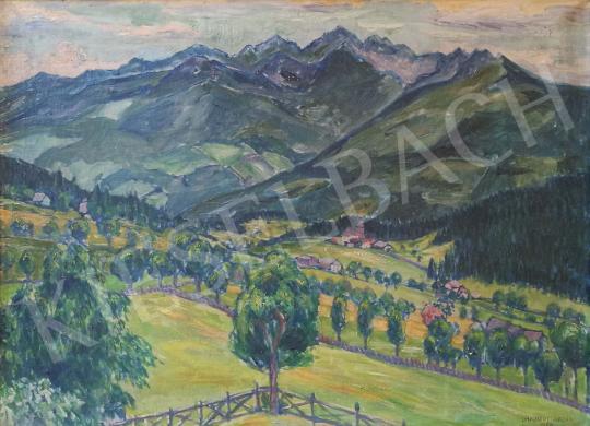 Eladó  Lakatos Artúr - Alpesi táj, 1929 festménye