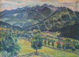 Lakatos Artúr - Alpesi táj, 1929