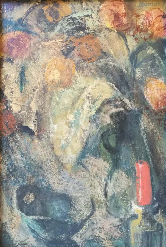 Eladó  Hámor Ilona - Pirosgyertyás csendélet festménye