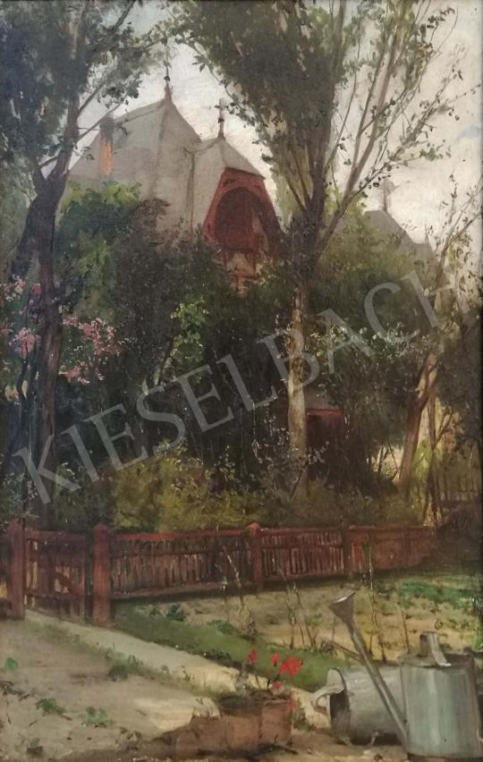 For sale  Berkes, Antal - Summer house between the foliage 's painting
