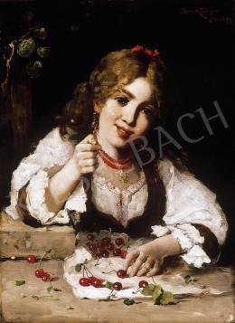 Bruck Lajos - Kislány cseresznyékkel