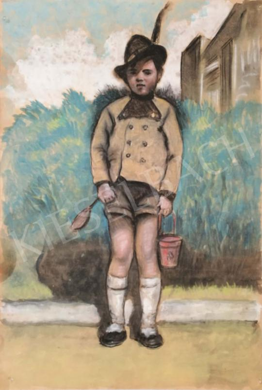 For sale  Scheiber, Hugó - Tyrolean child 's painting