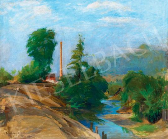 Eladó  Benkhard Ágost - Felsőbányai táj, 1943 festménye
