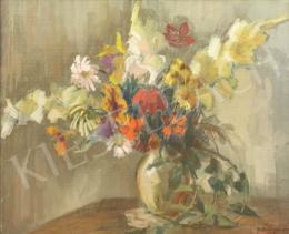 ifj. Éber Sándor - Tavaszi virágok vázában, 1959