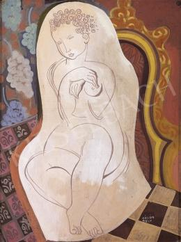 Kádár, Béla - Nude Sitting in an Armchair