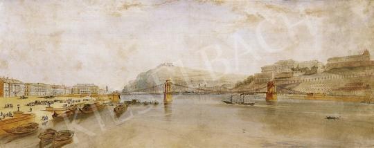 William Tierney Clark irodája - Látványterv a Lánchídhoz, 1837 | 13. Aukció aukció / 44 tétel