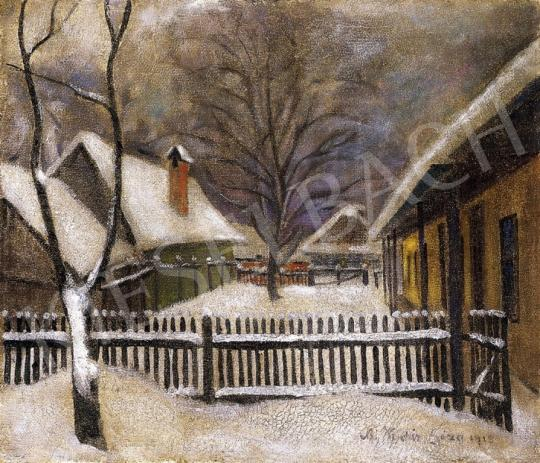 Kádár, Géza - Snow - Covered Garden in Nagybánya | 13th Auction auction / 48 Item