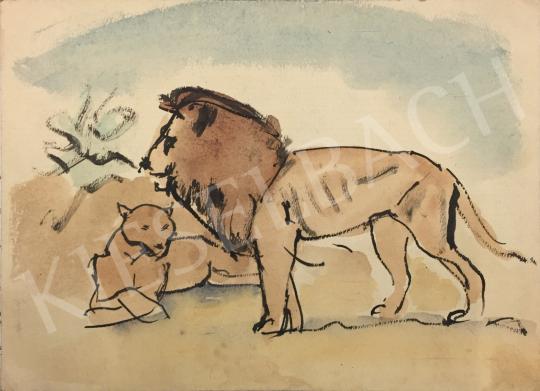 Eladó Huzella Pál - Az oroszlánkirály festménye