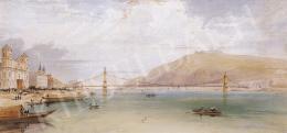William Tierney Clark irodája - Látványterv a Lánchídhoz, 1837