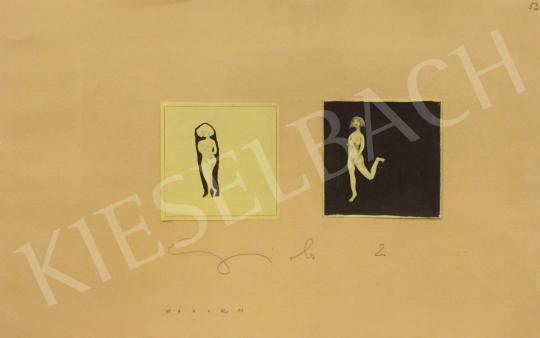 Eladó Wahorn András - Feketébe burkolva (Girls) festménye