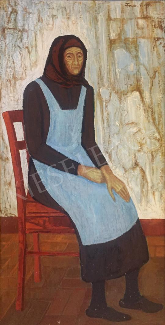 Eladó  Fontos Sándor - Édesanyám, 1974 festménye