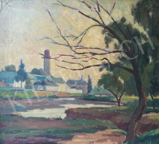 Eladó Katz Márton - Nagybánya látképe festménye