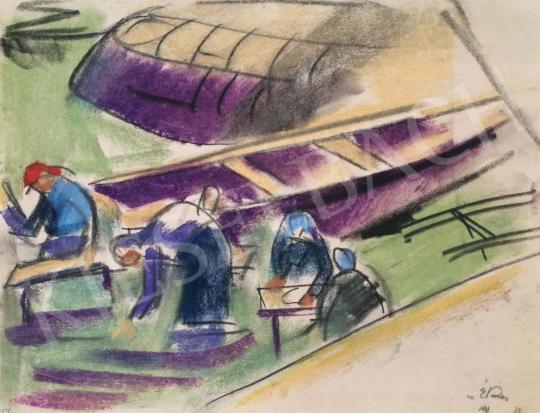 Eladó  Csabai-Ékes Lajos - Folyónál mosó asszonyok festménye