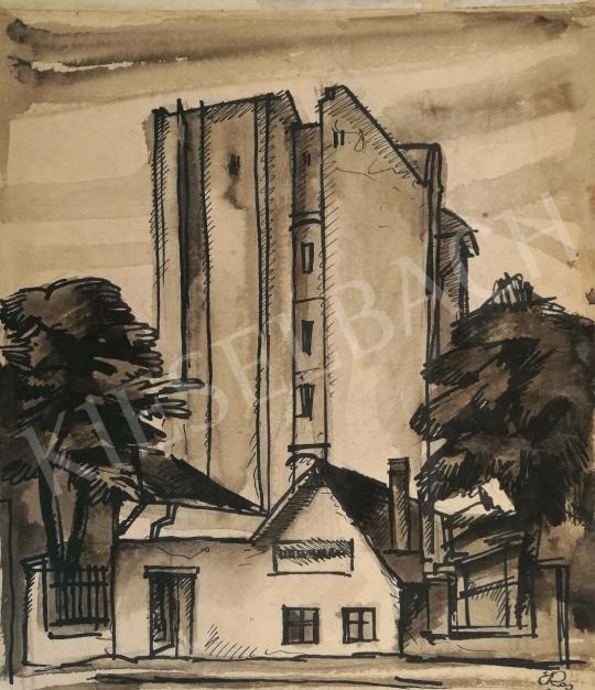 For sale  Csabai-Ékes, Lajos - Suburban Street 's painting