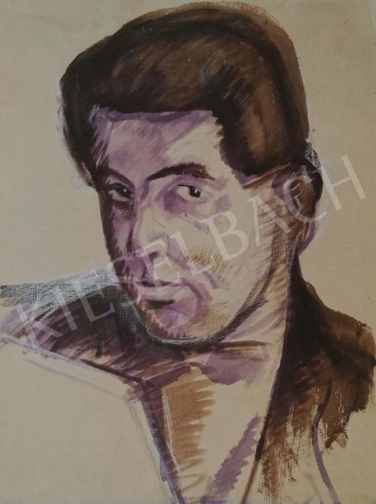 Eladó  Csabai-Ékes Lajos - Önarckép festménye