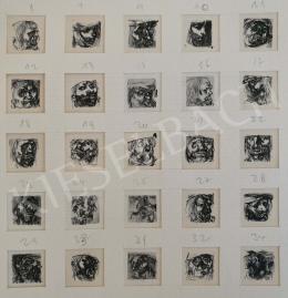 Szász Endre - Francois Villon-illusztrációk, 1958