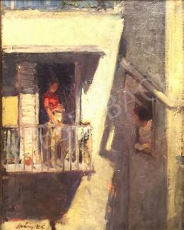 Spányik, Kornél - On the balcony