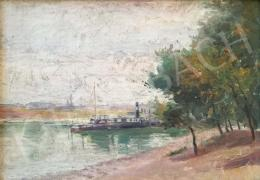 Unknown painter - Steamboat on the Danube