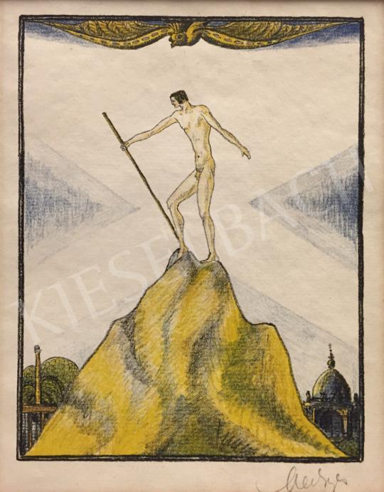 Eladó Medgyes László - Vándor, 1917 festménye