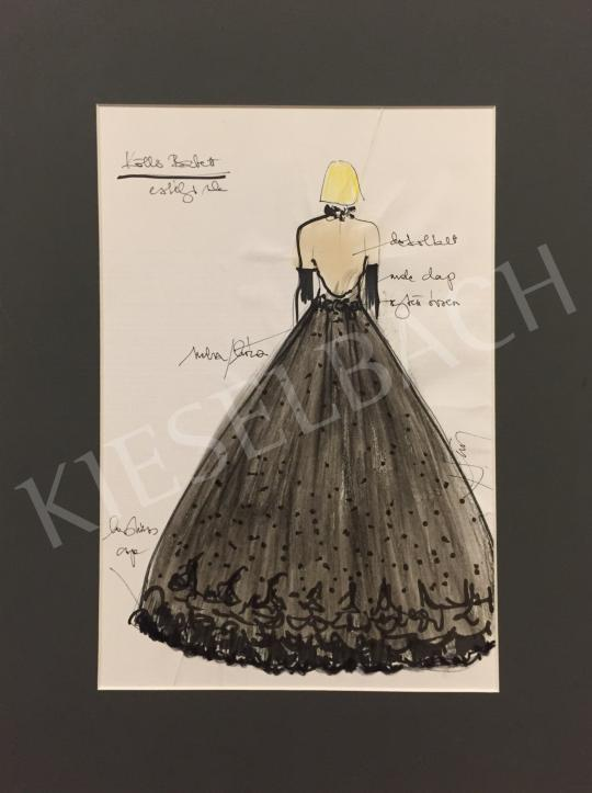 Náray Tamás - Evening dress costume design painting