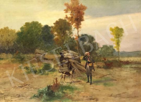 Eladó Neogrády Antal - Vadászlesen festménye