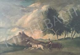 Rudnay Gyula - Hazafelé siető lovaskocsi
