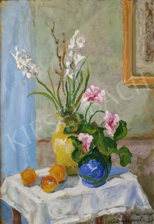 For sale  Csáki-Maronyák, József - Still Life with Flowers 's painting