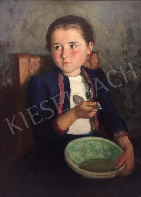 For sale  Glatz, Oszkár - Lunching girl 's painting