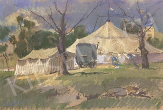 Sass, Árpád (Adler Árpád) - Circus painting