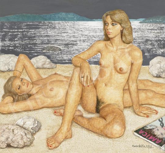 Czene Béla - Aktok a tengernél (Adria), 1982 | 62. Őszi Aukció aukció / 2 tétel