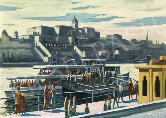 Duray Tibor - Dunaparton (A Vigadó tér háttérben a Budai várral), 1960-as évek | 62. Őszi Aukció aukció / 3 tétel