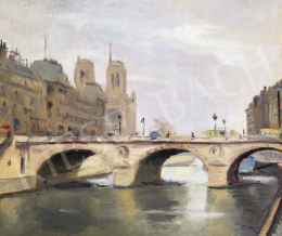 Bertalan, Albert - Seine Bank in Paris, 1924