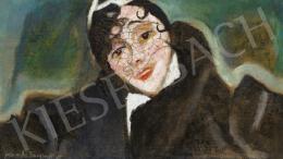 Frank Frigyes - Mimi fátyolos kalapban, 1932 körül