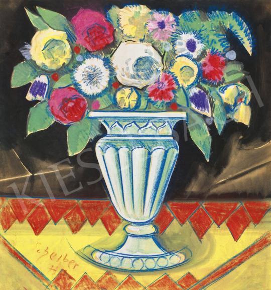 Scheiber Hugó - Art deco virágcsokor rózsákkal, 1930-as évek | 62. Őszi Aukció aukció / 7 tétel