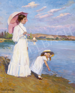 Zemplényi, Tivadar - Afternoon by Lake Balaton, c. 1910
