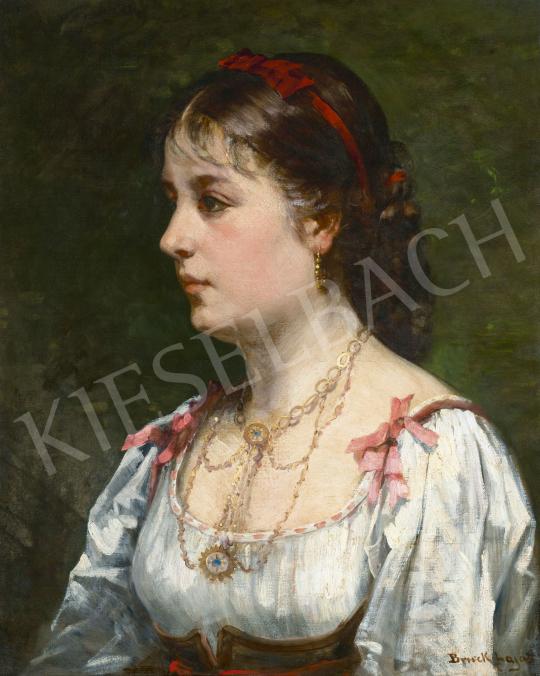 Bruck Lajos - Fiatal lány,  1875 | 62. Őszi Aukció aukció / 15 tétel
