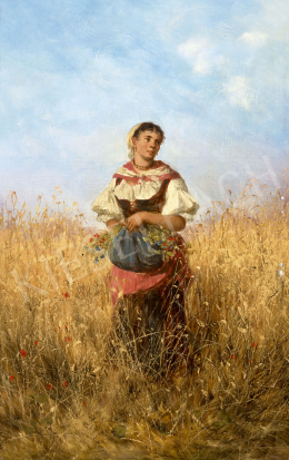 Böhm, Pál - Young Girl on the Field (Summer)