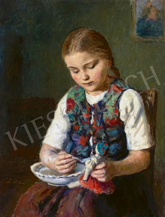 Glatz Oszkár - Kislány babával | 62. Őszi Aukció aukció / 18 tétel