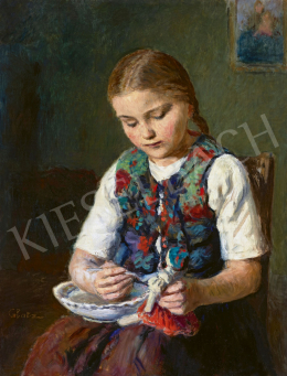 Glatz, Oszkár - Little Girl with Doll