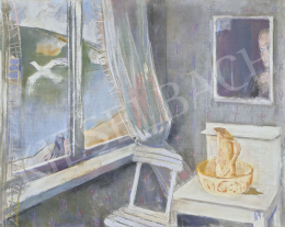 Bernáth, Aurél - Hotel Room with Self Portrait (Hotel Room), 1970