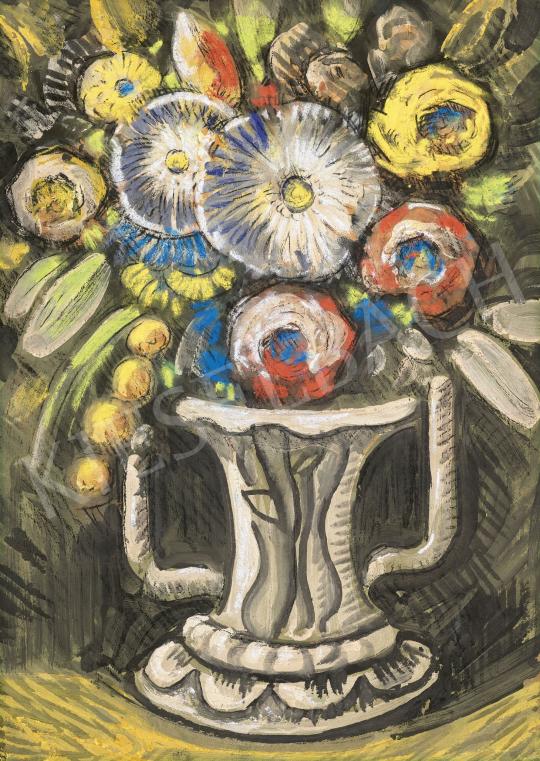 Scheiber Hugó - Art deco virágcsokor margarétákkal | 62. Őszi Aukció aukció / 30 tétel