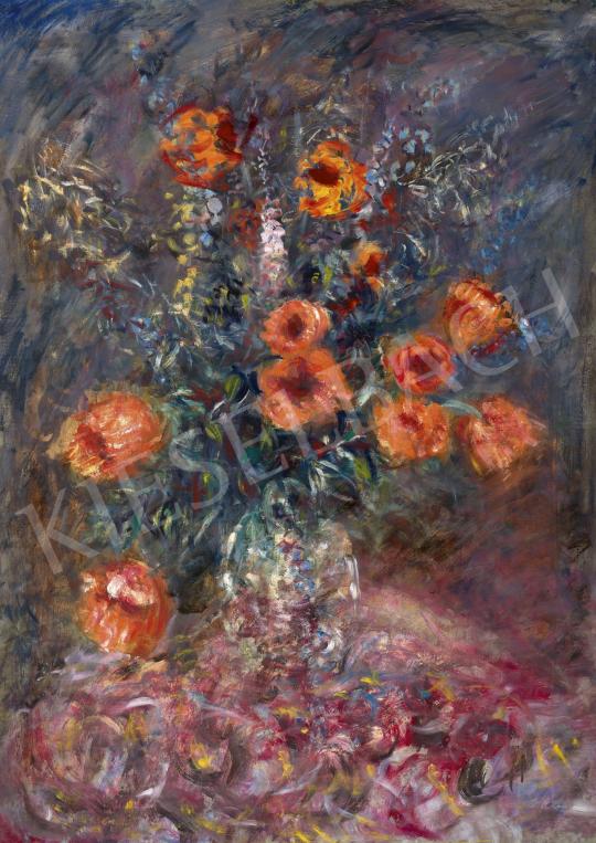 Halápy János - Impresszionista virágcsendélet | 62. Őszi Aukció aukció / 31 tétel