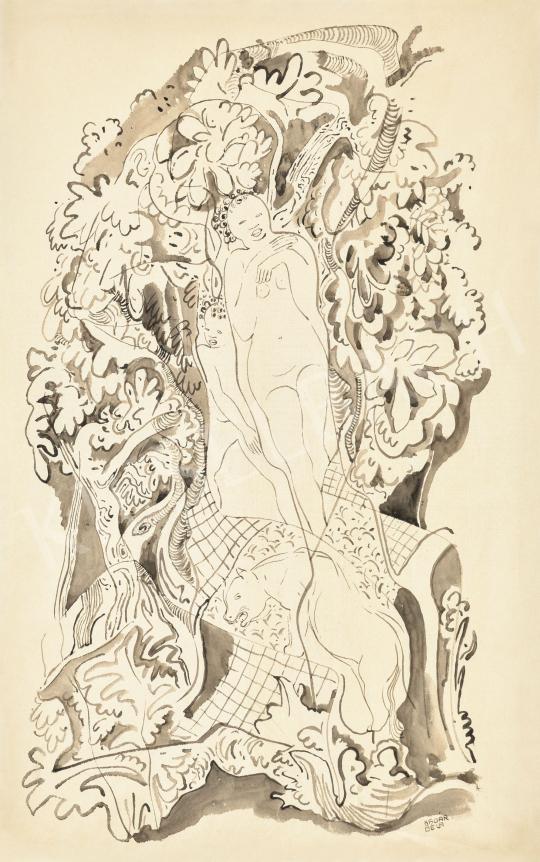 Kádár Béla - Art deco jelenet | 62. Őszi Aukció aukció / 32 tétel