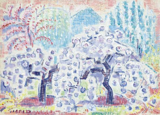 Járitz Józsa - Virágzó almafák (Tavasz) | 62. Őszi Aukció aukció / 42 tétel