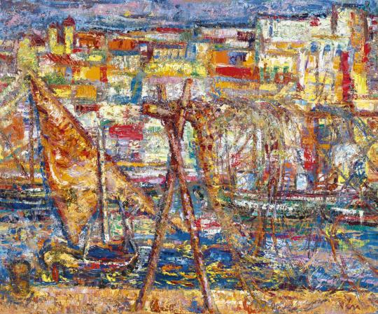 Vén Emil - Olasz halászfalu, 1974 | 62. Őszi Aukció aukció / 44 tétel